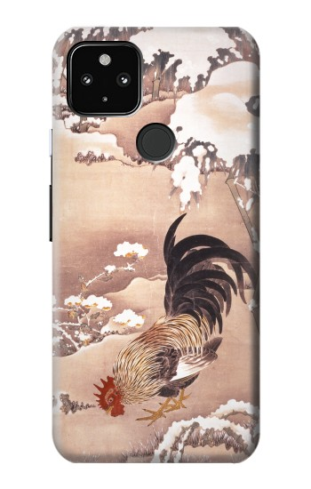 Printed Ito Jakuchu Rooster Google Pixel 4a 5G Case