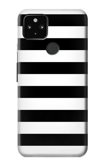Printed Black and White Striped Google Pixel 4a 5G Case