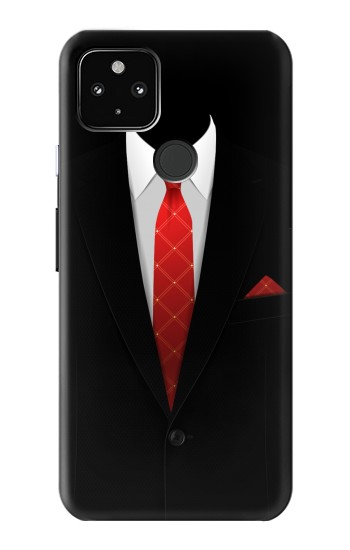 Printed Black Suit Google Pixel 4a 5G Case