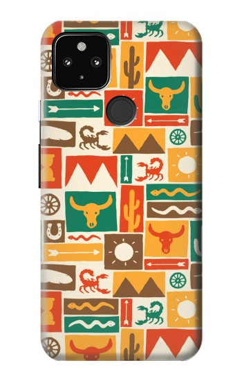 Printed Western Pattern Google Pixel 4a 5G Case