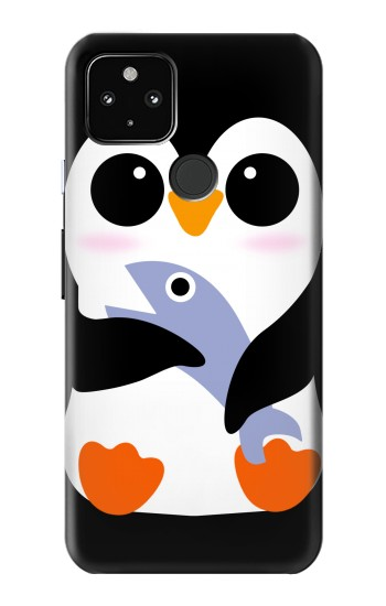 Printed Cute Baby Penguin Google Pixel 4a 5G Case