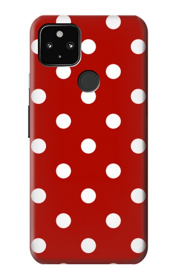 Printed Red Polka Dots Google Pixel 4a 5G Case