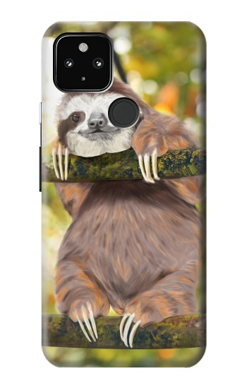 Printed Cute Baby Sloth Paint Google Pixel 4a 5G Case