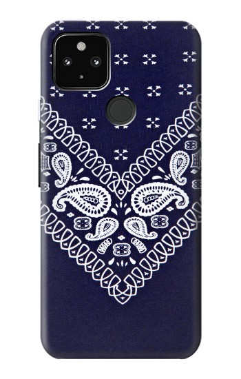 Printed Navy Blue Bandana Pattern Google Pixel 4a 5G Case