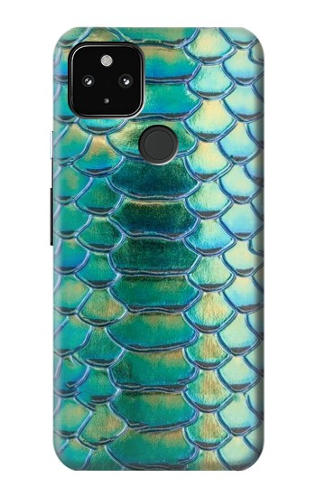 Printed Green Snake Scale Graphic Print Google Pixel 4a 5G Case
