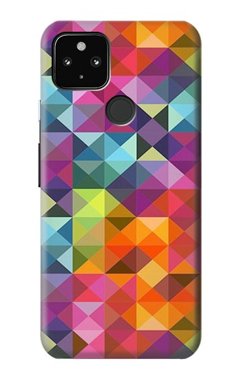 Printed Abstract Diamond Pattern Google Pixel 4a 5G Case