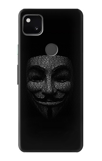Printed Anonymous mask Google Pixel 4a Case