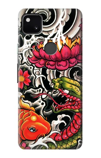 Printed Yakuza Tattoo Google Pixel 4a Case