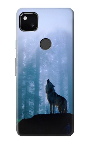 Printed Wolf Howling in Forest Google Pixel 4a Case