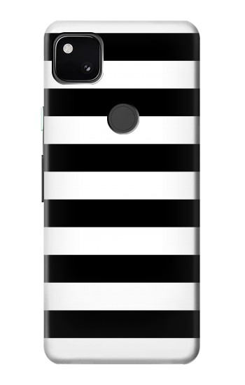 Printed Black and White Striped Google Pixel 4a Case