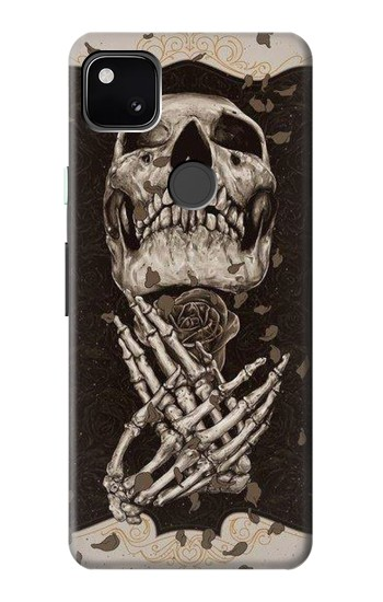 Printed Skull Rose Google Pixel 4a Case