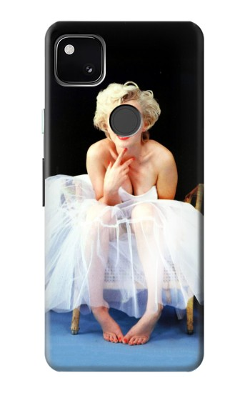 Printed Marilyn Monroe White Dress Google Pixel 4a Case
