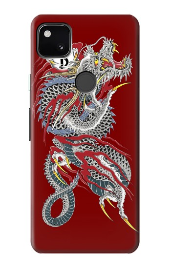 Printed Yakuza Dragon Tattoo Google Pixel 4a Case
