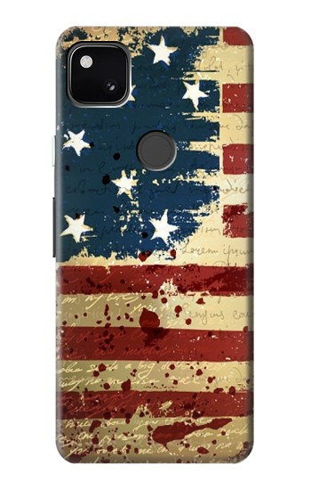 Printed Old American Flag Google Pixel 4a Case