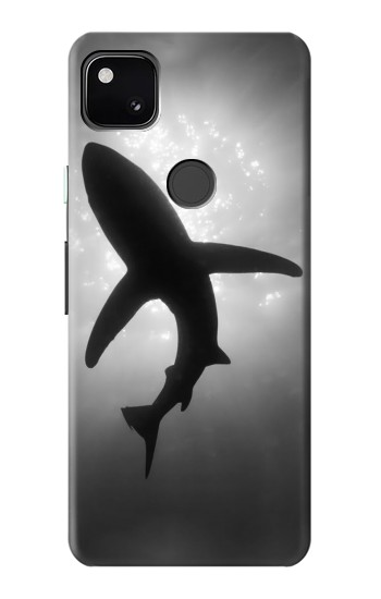 Printed Shark Monochrome Google Pixel 4a Case