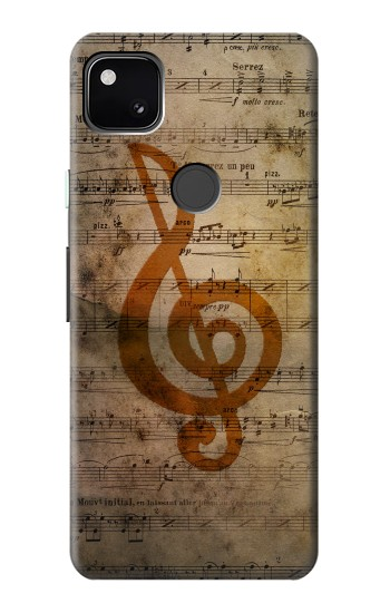 Printed Sheet Music Notes Google Pixel 4a Case