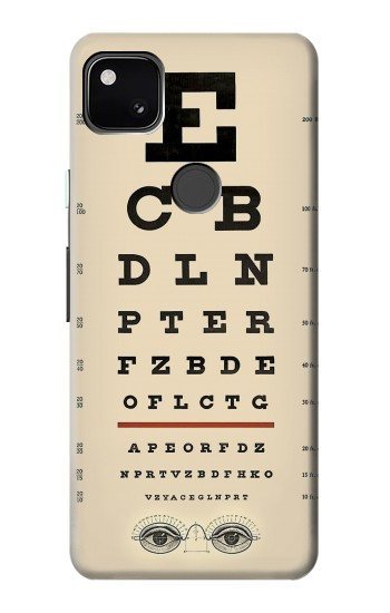 Printed Eye Exam Chart Decorative Decoupage Poster Google Pixel 4a Case