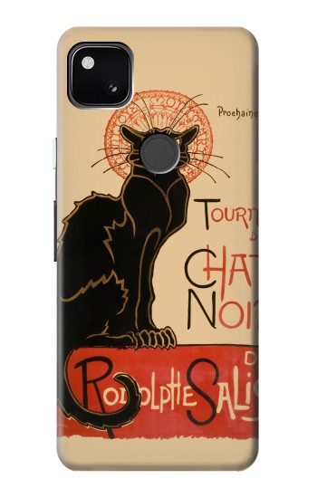 Printed Chat Noir The Black Cat Google Pixel 4a Case