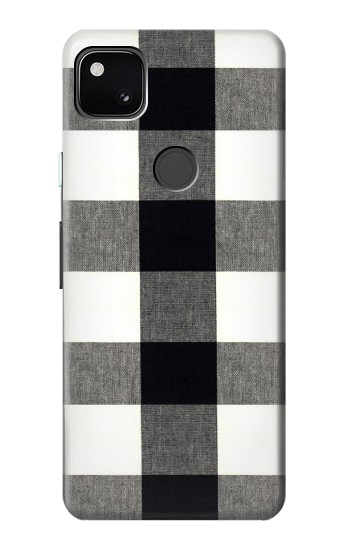 Printed Black and White Buffalo Check Pattern Google Pixel 4a Case