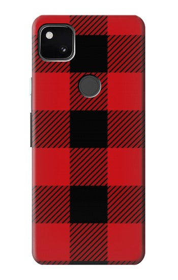 Printed Red Buffalo Check Pattern Google Pixel 4a Case