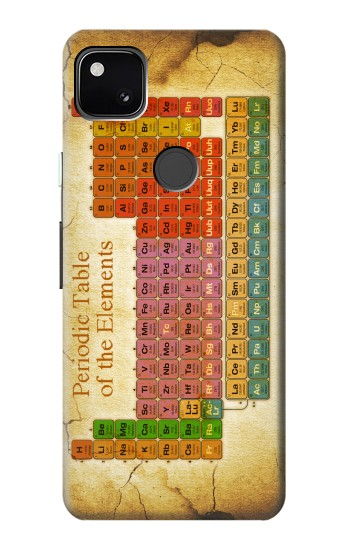 Printed Vintage Periodic Table of Elements Google Pixel 4a Case