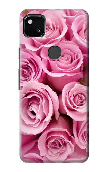 Printed Pink Rose Google Pixel 4a Case