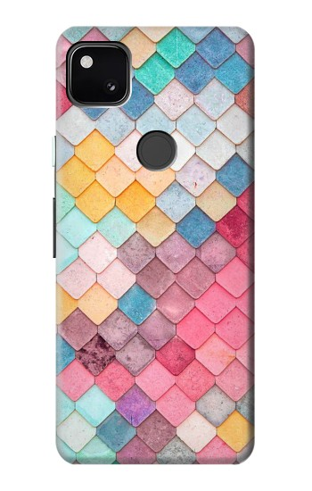 Printed Candy Minimal Pastel Colors Google Pixel 4a Case