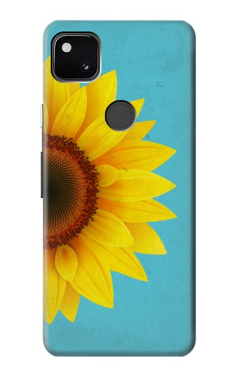 Printed Vintage Sunflower Blue Google Pixel 4a Case