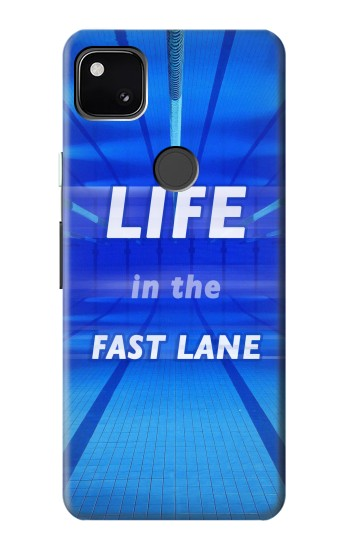 Printed Life in the Fast Lane Swimming Pool Google Pixel 4a Case