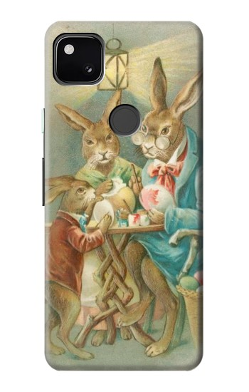 Printed Easter Rabbit Family Google Pixel 4a Case