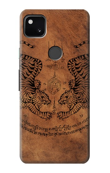 Printed Sak Yant Twin Tiger Google Pixel 4a Case