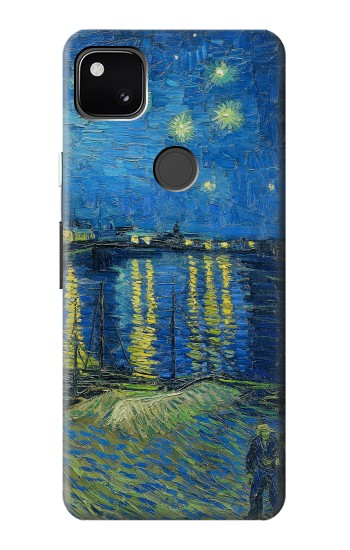 Printed Van Gogh Starry Night Over Rhone Google Pixel 4a Case