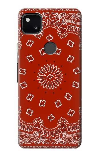 Printed Bandana Red Pattern Google Pixel 4a Case