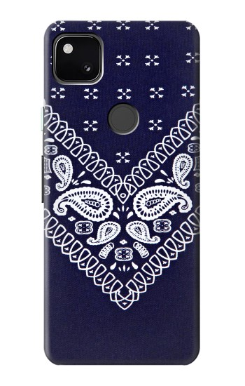 Printed Navy Blue Bandana Pattern Google Pixel 4a Case