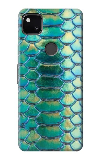 Printed Green Snake Scale Graphic Print Google Pixel 4a Case