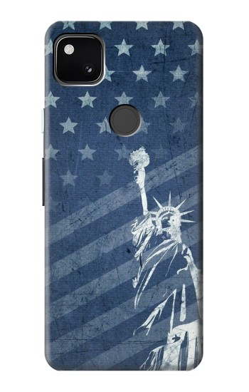 Printed US Flag Liberty Statue Google Pixel 4a Case