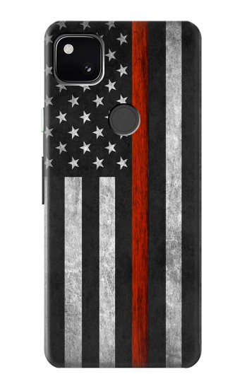 Printed Firefighter Thin Red Line Flag Google Pixel 4a Case