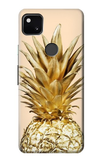 Printed Gold Pineapple Google Pixel 4a Case