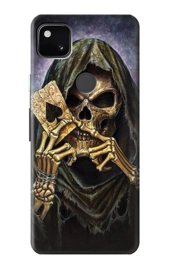 Printed Grim Reaper Wins Poker Google Pixel 4a Case
