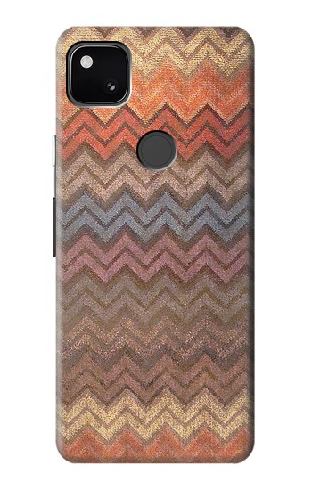 Printed Zigzag Fabric Pattern Graphic Printed Google Pixel 4a Case