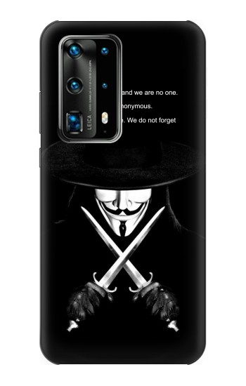 Printed V Mask Guy Fawkes Anonymous Huawei P40 Pro Case