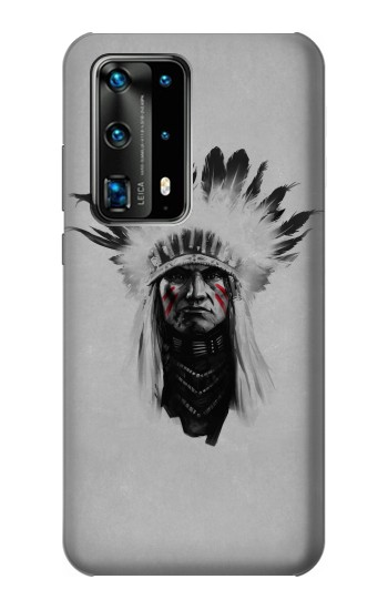Printed Indian Chief Huawei P40 Pro Case
