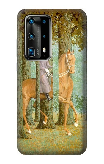 Printed Rene Magritte The Blank Signature Huawei P40 Pro Case