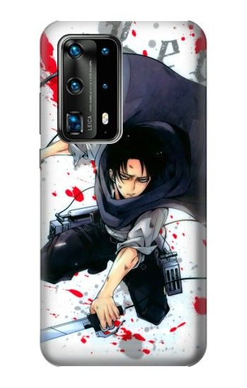 Printed Attack on Titan Rivaille Levi Huawei P40 Pro Case
