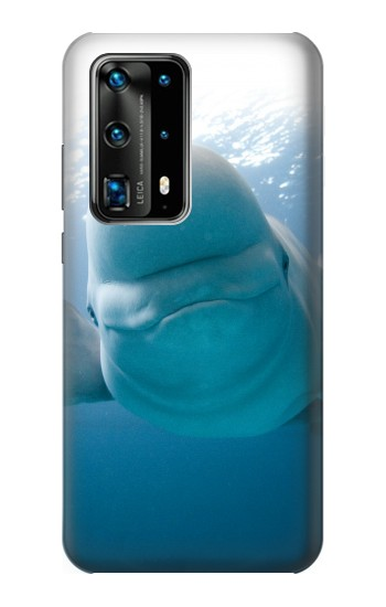 Printed Beluga Whale Smile Whale Huawei P40 Pro Case