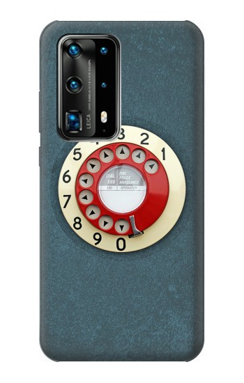 Printed Rotary Dial Telephone Huawei P40 Pro Case