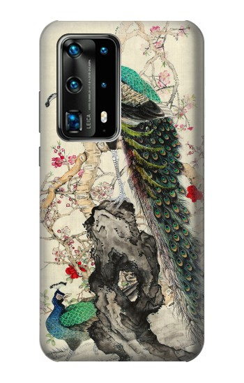 Printed Peacock Painting Huawei P40 Pro Case
