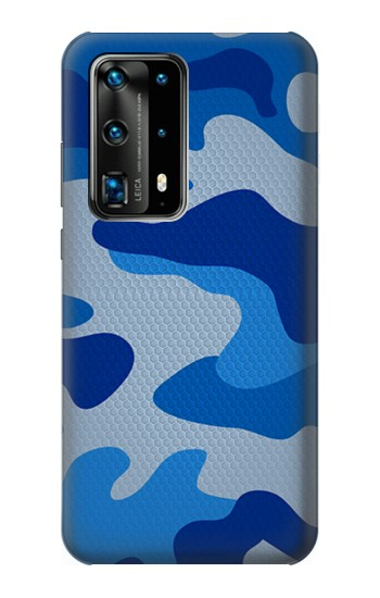 Printed Army Blue Camouflage Huawei P40 Pro Case