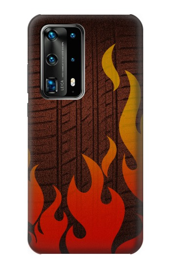 Printed Rally Car Tire Huawei P40 Pro Case