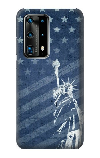 Printed US Flag Liberty Statue Huawei P40 Pro Case